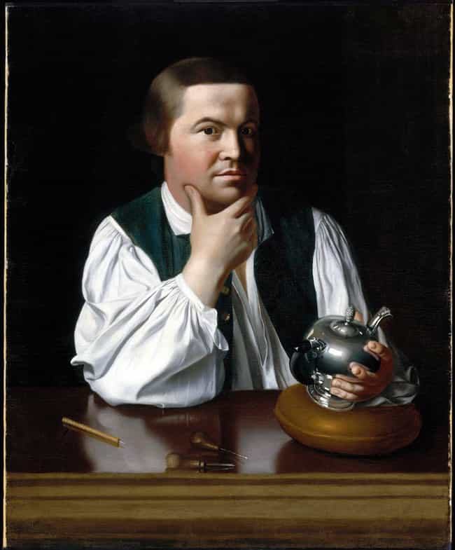 Paul Revere is listed (or ranked) 1 on the list Famous Male Silversmiths