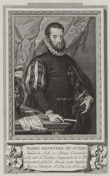 Pedro Menéndez de Avilés is listed (or ranked) 1 on the list List of Famous Admirals