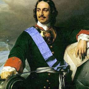 Peter the Great is listed (or ranked) 8 on the list List of Famous Monarchs