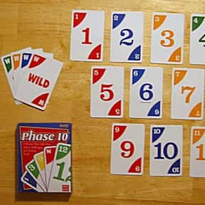 Phase 10 is listed (or ranked) 21 on the list The Most Popular & Fun Card Games