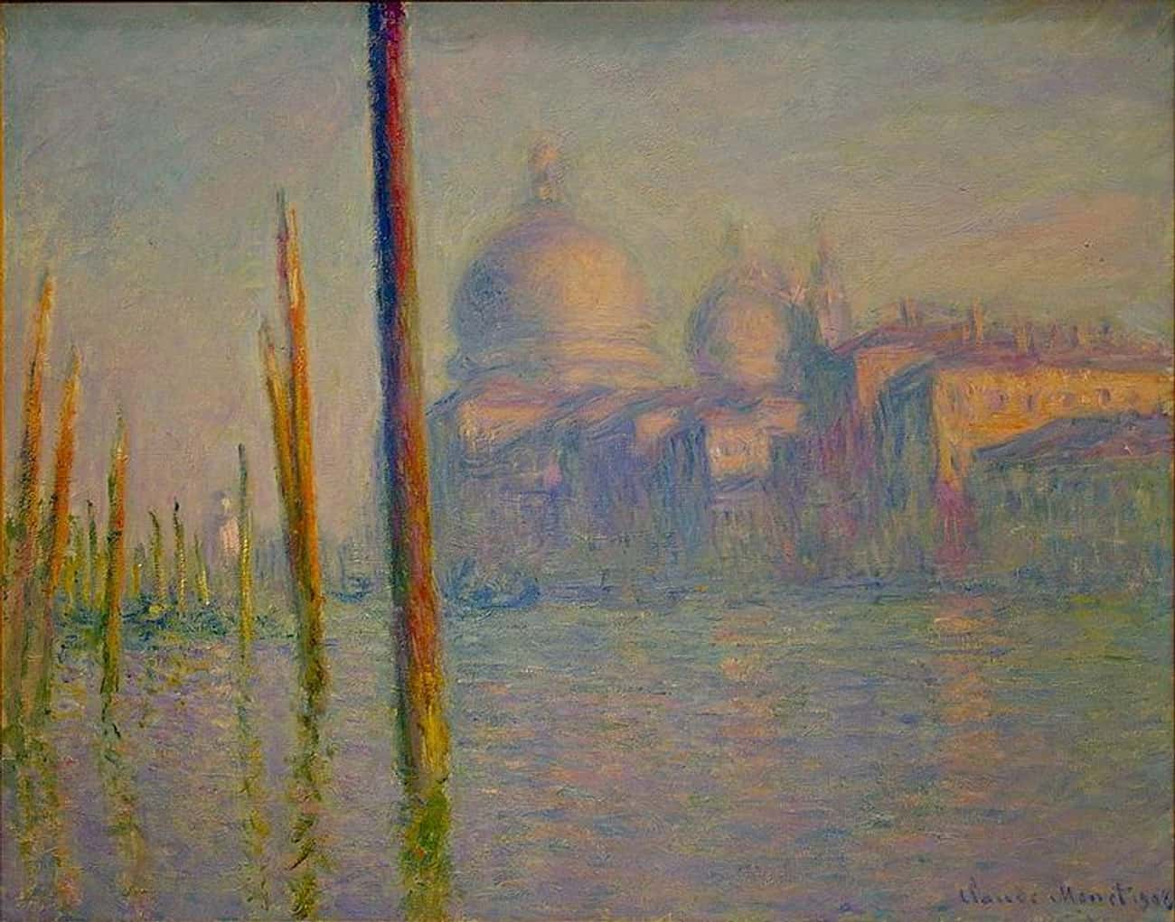 Grand Canal, Venice is listed (or ranked) 3 on the list Famous Marine Arts by Claude Monet