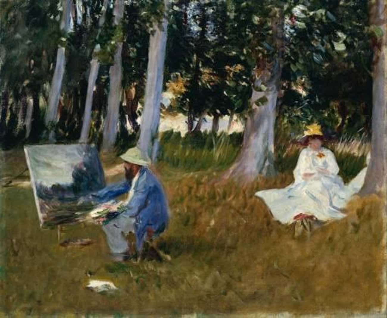 Claude Monet Painting by the E is listed (or ranked) 3 on the list Famous John Singer Sargent Paintings