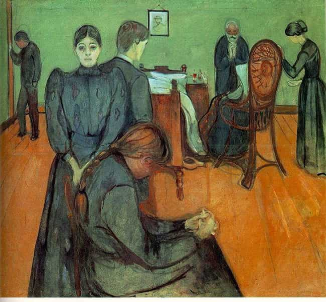 Death in the Sickroom is listed (or ranked) 2 on the list Famous Edvard Munch Paintings