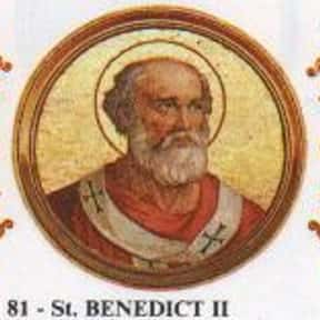 Pope Benedict II is listed (or ranked) 17 on the list Complete List of 7th Century Popes