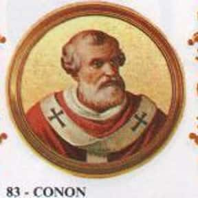 Pope Conon is listed (or ranked) 19 on the list Complete List of 7th Century Popes