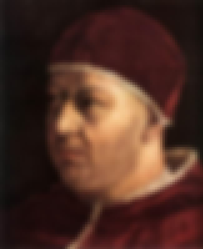 Pope Leo X is listed (or ranked) 4 on the list Members of the House Of Medici