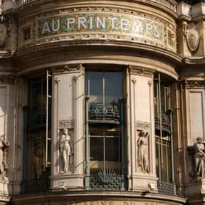 Printemps is listed (or ranked) 2 on the list The Best French Department Stores
