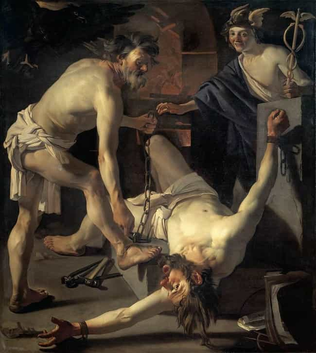Prometheus Being Chained by Vu... is listed (or ranked) 2 on the list Famous Prometheus Art
