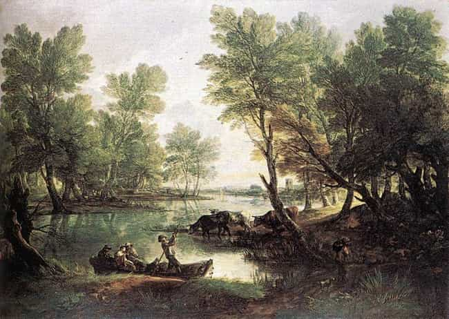 River Landscape is listed (or ranked) 4 on the list Famous Thomas Gainsborough Paintings
