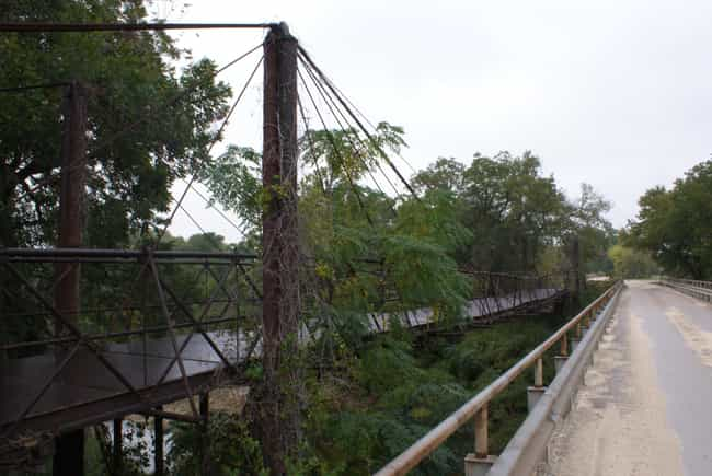 Bluff Dale Suspension Bridge is listed (or ranked) 4 on the list Bridges in Texas