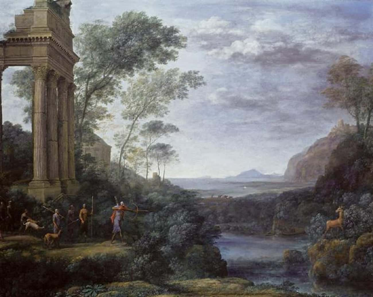 Ascanius Shooting the Stag of  is listed (or ranked) 3 on the list Famous Classicism Paintings