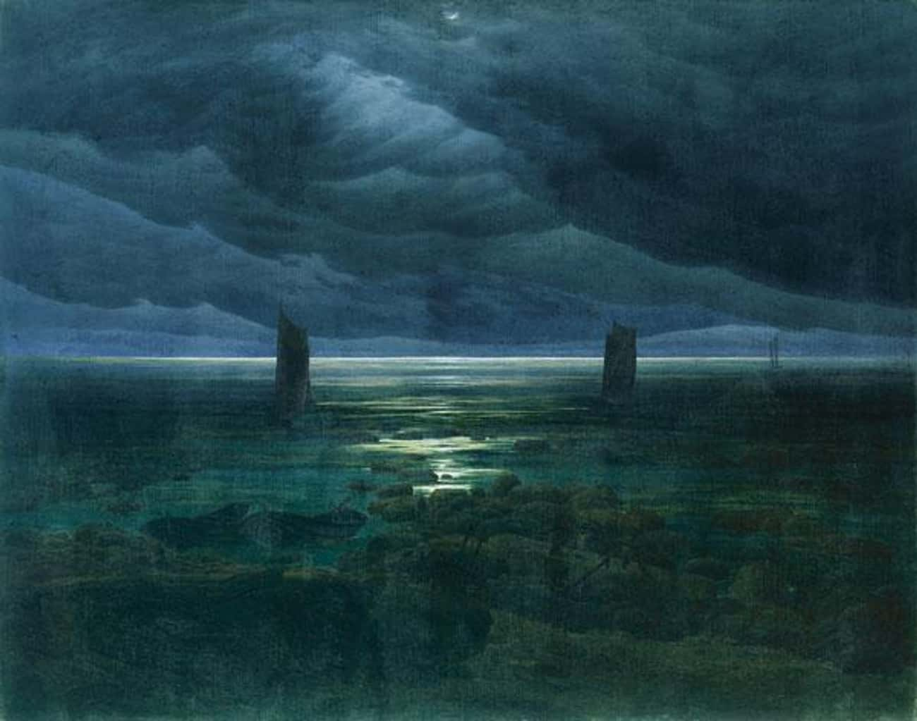 Seashore by Moonlight is listed (or ranked) 3 on the list Famous German Romanticism Paintings