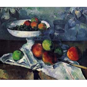 Fruit Bowl, Glass, and Apples