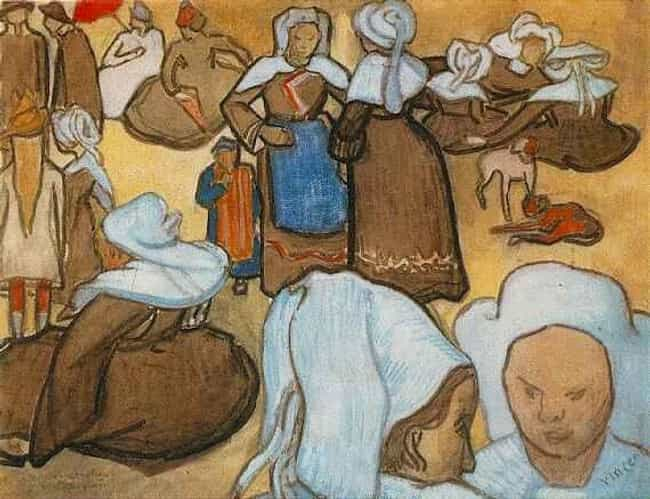 Breton Women and Children is listed (or ranked) 2 on the list Famous Post-Impressionism Paintings