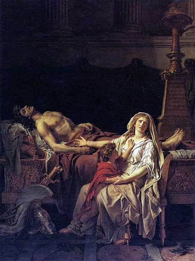 Andromache Mourning Over... is listed (or ranked) 2 on the list Famous Neoclassicism Paintings