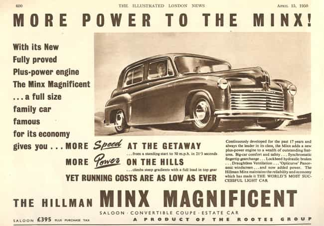 Hillman Minx Magnificent... is listed (or ranked) 2 on the list Full List of Hillman Models