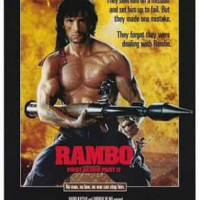 Rambo: First Blood Part II is listed (or ranked) 8 on the list The Greatest Guilty Pleasure Action Movies
