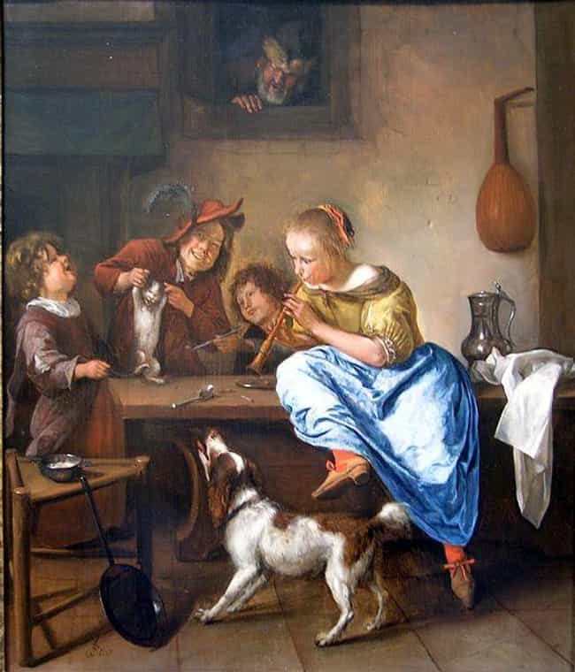 Children Teaching a Cat to Dan... is listed (or ranked) 4 on the list Famous Genre Paintings from the Baroque Movement