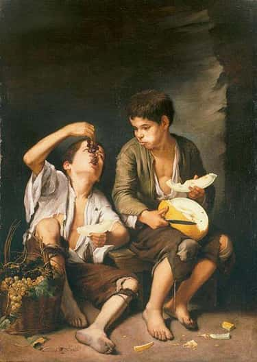 Boys Eating Grapes and Melon is listed (or ranked) 2 on the list Famous Genre Paintings  from the Baroque Movement