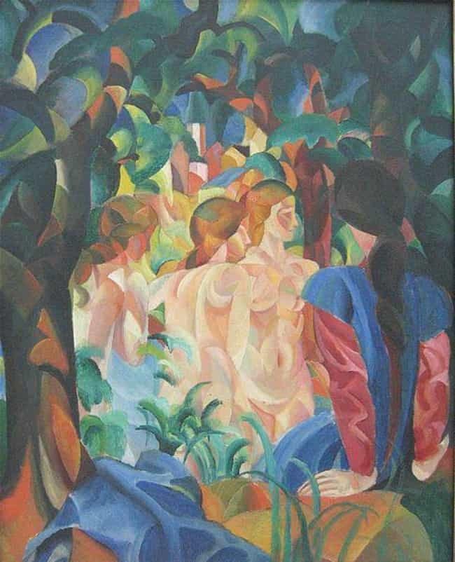 Bathing Girls with Town in the... is listed (or ranked) 4 on the list Famous German Expressionism Artwork