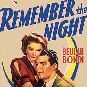Remember the Night is listed (or ranked) 15 on the list The Best Romantic Comedies of the 1940s