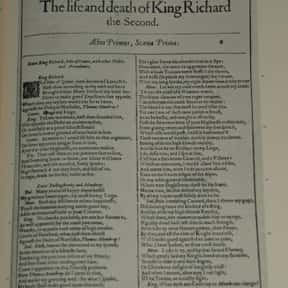 Richard II is listed (or ranked) 34 on the list William Shakespeare's Plays