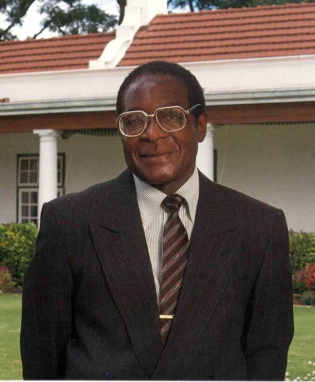 Robert Mugabe is listed (or ranked) 3 on the list 10 World Leaders Who Allegedly Jailed Their Political Opponents and Critics