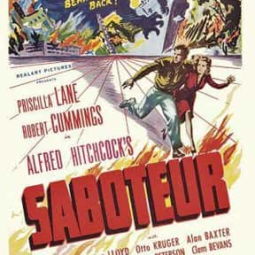 Saboteur is listed (or ranked) 3 on the list The Best Spy Movies of the 1940s