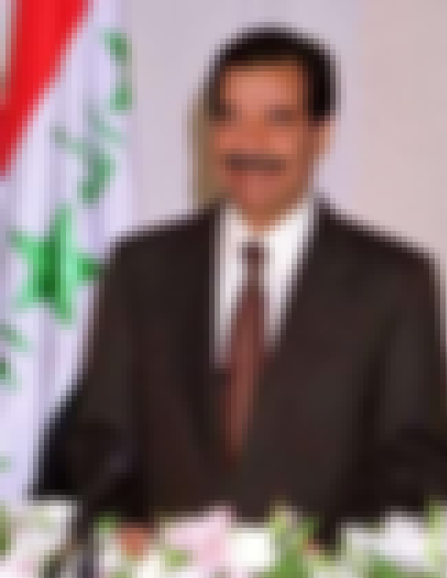 Saddam Hussein is listed (or ranked) 4 on the list List of Famous Presidents