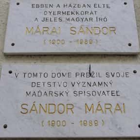 Sándor Márai is listed (or ranked) 15 on the list Famous People From Slovakia
