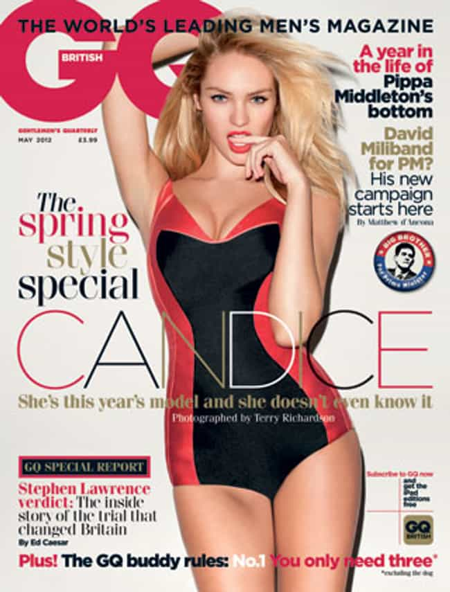 Candice Swanepoel is listed (or ranked) 3 on the list The Best GQ Covers