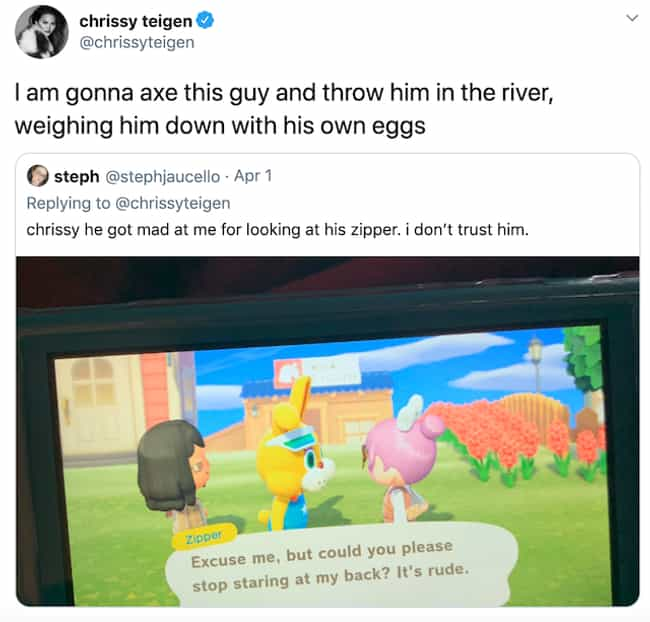 Chrissy Teigen is listed (or ranked) 4 on the list Celebrities Who Play 'Animal Crossing: New Horizons'