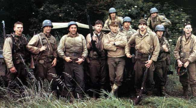 Saving Private Ryan is listed (or ranked) 6 on the list The 15 Best Movies About Suicide (or Seemingly Suicidal) Missions