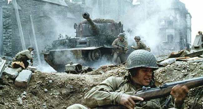 Saving Private Ryan is listed (or ranked) 2 on the list Brutal War Movies That Absolutely Got It Right