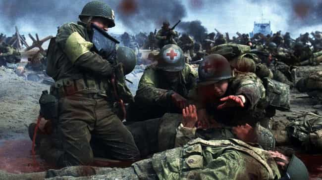 Saving Private Ryan is listed (or ranked) 3 on the list The All-Time Goriest Scenes From Non-Horror Movies