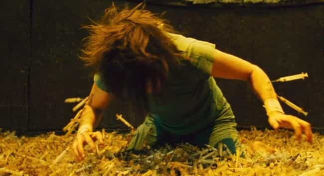 Saw II is listed (or ranked) 2 on the list Horror Movie Scenes Even Serious Viewers Can't Make It Through