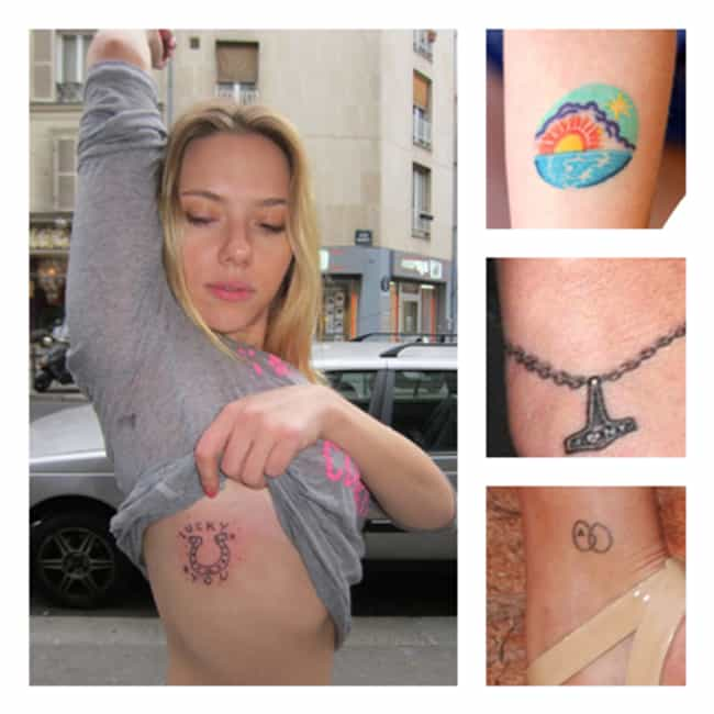 Scarlett Johansson is listed (or ranked) 4 on the list The 25 Sexiest (Famous) Girls with Tattoos