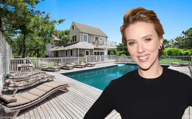 Scarlett Johansson is listed (or ranked) 1 on the list 29 Celebrities Who Own Gorgeous Homes in the Hamptons