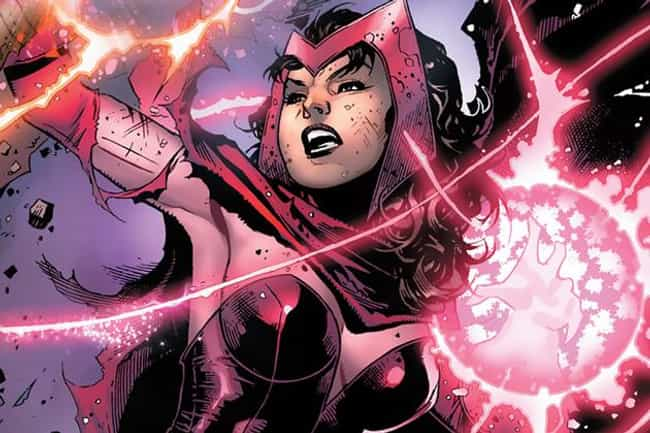 Scarlet Witch is listed (or ranked) 1 on the list Which Fictional Sorceress Would Win In A Magical Mega-Duel?
