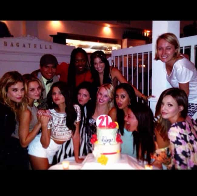 Selena Gomez is listed (or ranked) 3 on the list How Celebrities Spent Their 21st Birthdays