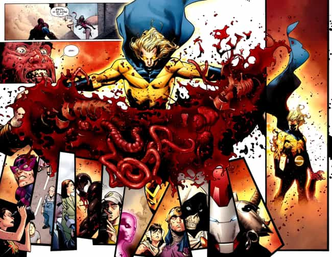 Sentry is listed (or ranked) 2 on the list 15 Times Superheroes Ended People In Cold Blood