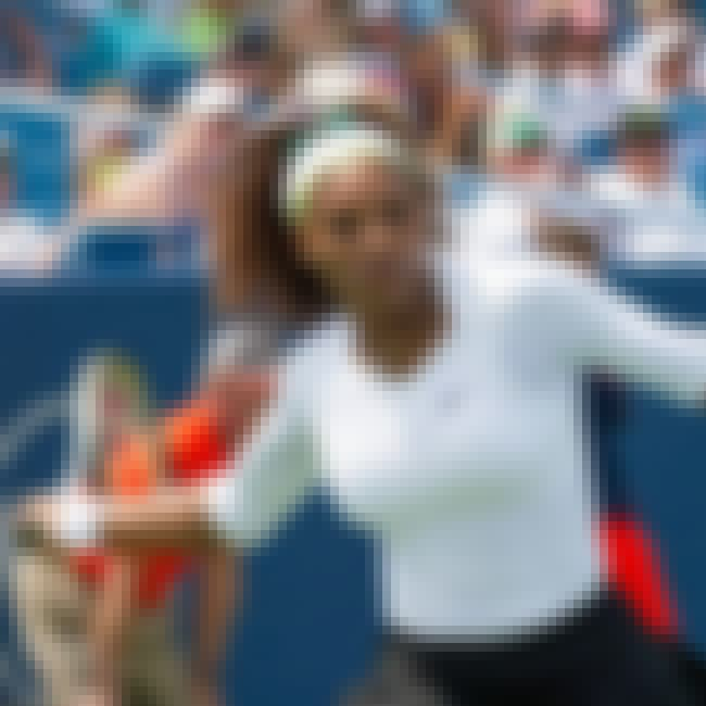 Serena Williams is listed (or ranked) 4 on the list Famous Female Athletes