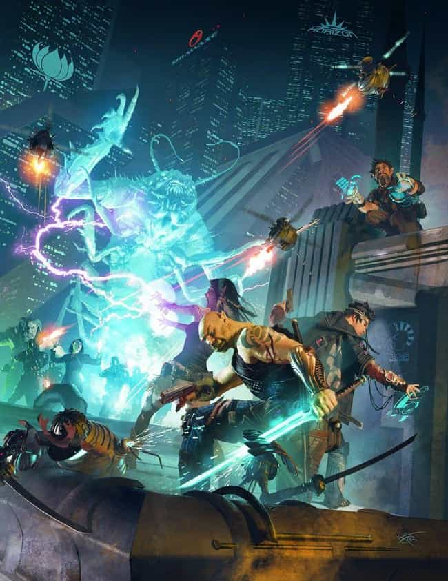 Shadowrun is listed (or ranked) 2 on the list 15 Pieces Of Insanely Gorgeous Tabletop RPG Artwork