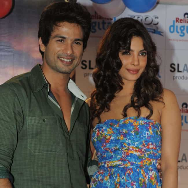Shahid Kapoor is listed (or ranked) 2 on the list Priyanka Chopra Loves and Hookups