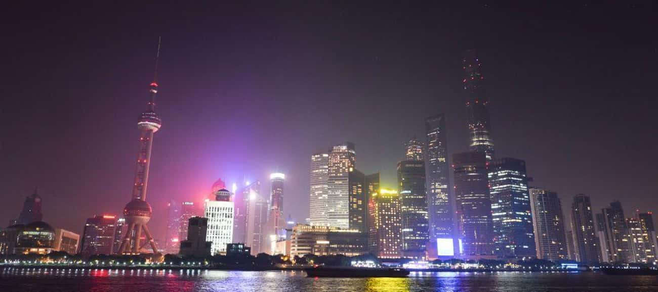 Shanghai is listed (or ranked) 3 on the list The Most Beautiful Skylines in the World