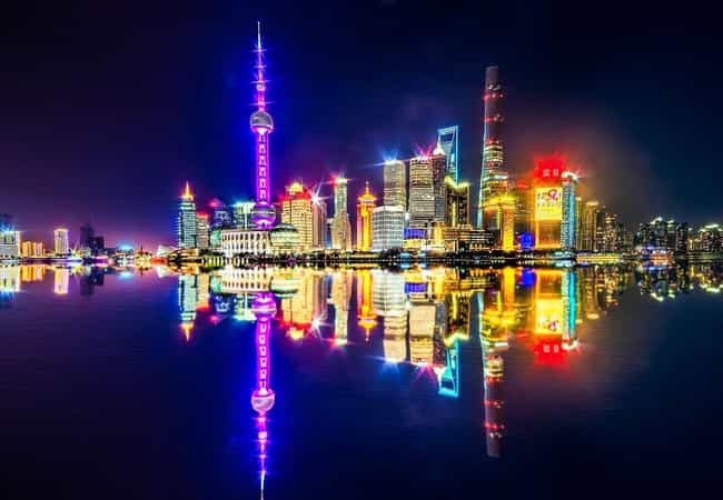 Shanghai is listed (or ranked) 2 on the list The Most Beautiful Skylines in the World