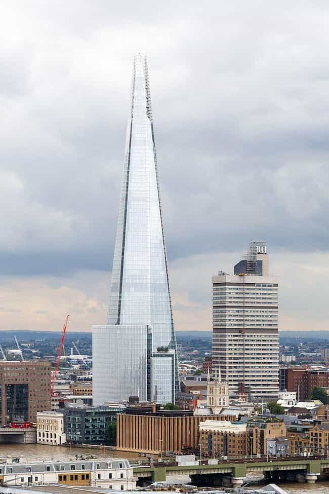 The Shard is listed (or ranked) 2 on the list The Tallest Buildings in Europe
