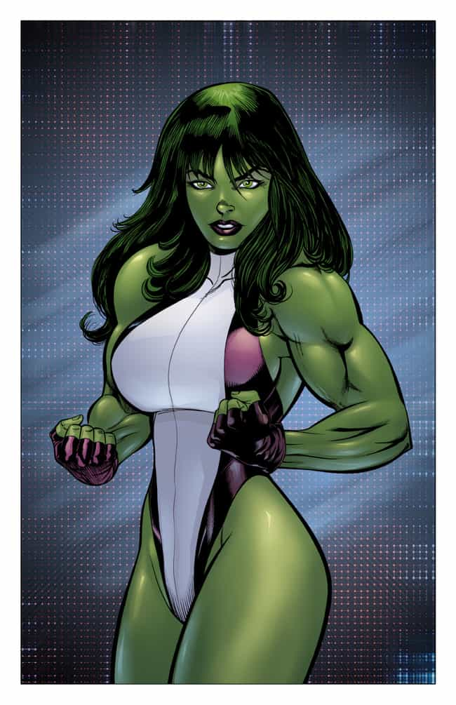 She-Hulk is listed (or ranked) 3 on the list The Best Comic Book Characters With Green Eyes