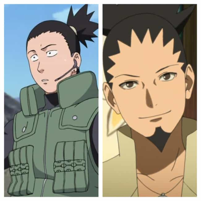 Shikamaru Nara is listed (or ranked) 1 on the list How Naruto Characters Look In Boruto Compared To Their Original Form