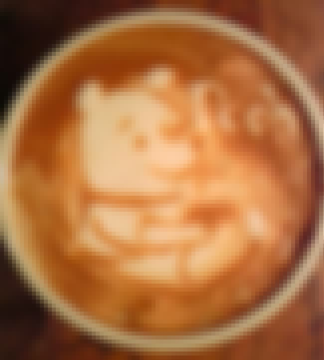 Pooh is listed (or ranked) 5 on the list 51 Works of Latte Art You'll Never Want to Drink Away